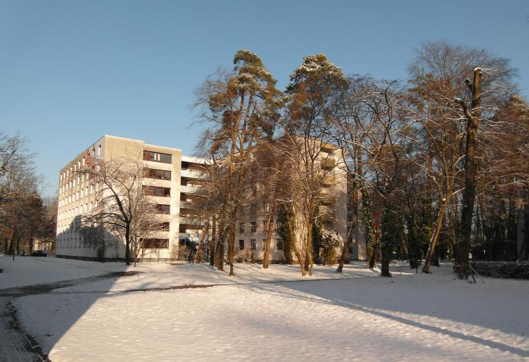 HaDiKo Compound covered in snow